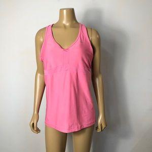 Nike womens pink medium impact dedication tank top